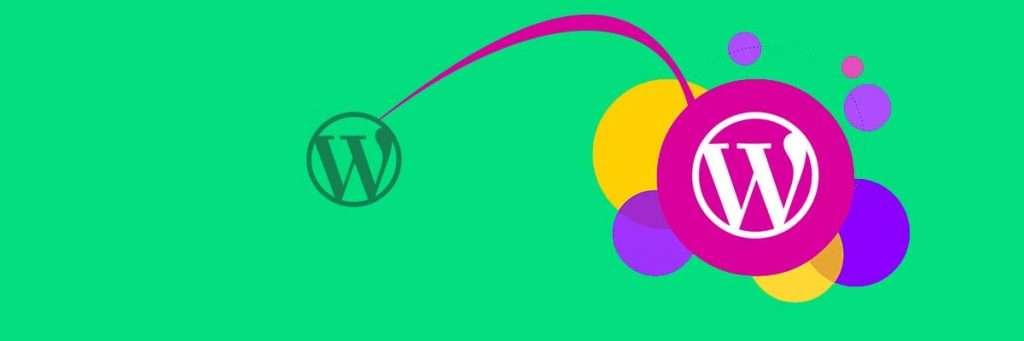banner con il logo di wordpress